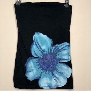Rue 21 Blue Flower Tube Top